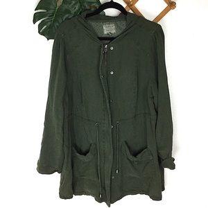 Torrid Olive Green Utility Hooded Jacket 2X
